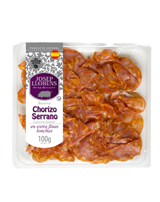 Loncheado Chorizo Serrano Extrafino 100 gr.