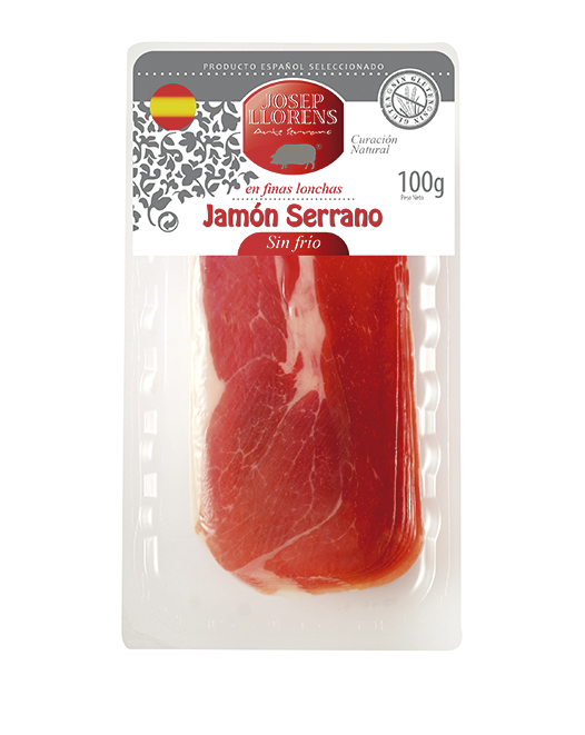 JAMBON SERRANO EN TRANCHE 100 GR.
