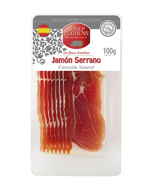 Loncheado Jamón Serrano 100 gr.