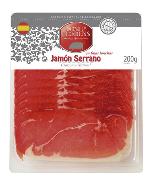 JAMBON SERRANO EN TRANCHE 200 GR.