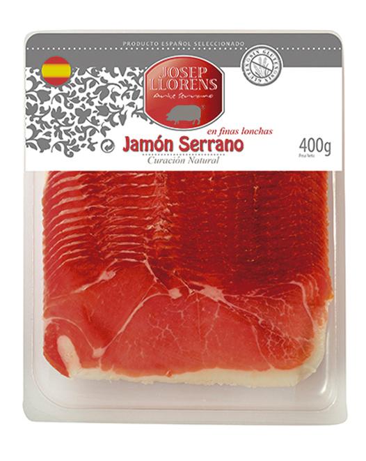 Loncheado Jamón Serrano 400 gr.