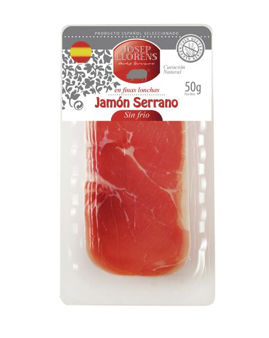 LONCHEADO JAMON SERRANO SIN FRIO 50gr