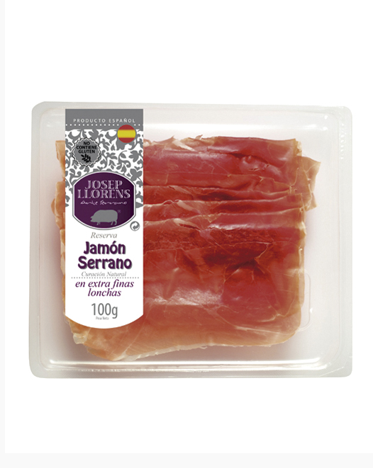 JAMBON SERRANO EXTRA-FIN EN TRANCHE 100GR.
