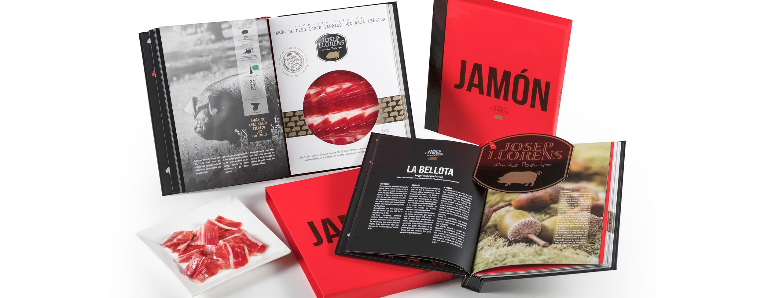 JAMÓN: Una gran obra de arte de la joya gastronómica española en formato libro de degustación.